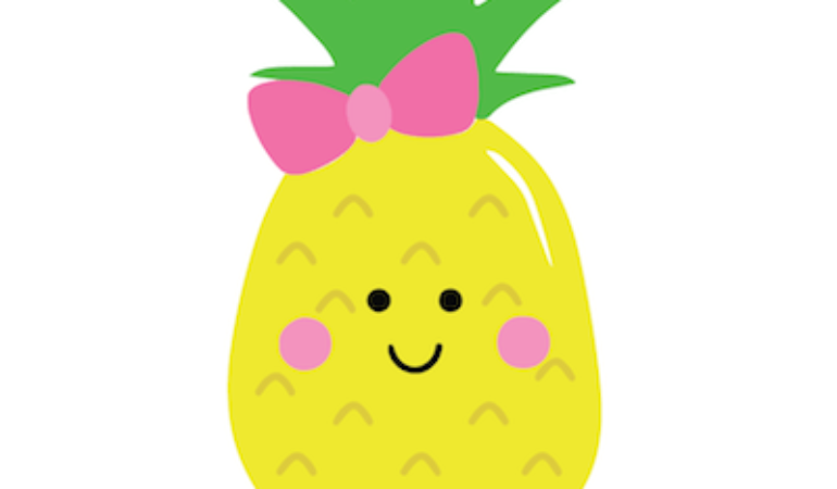 Happy Pineapple SVG