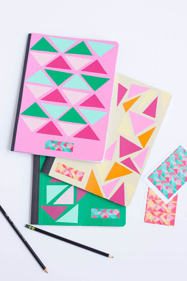How to create a geometric notebook cover.