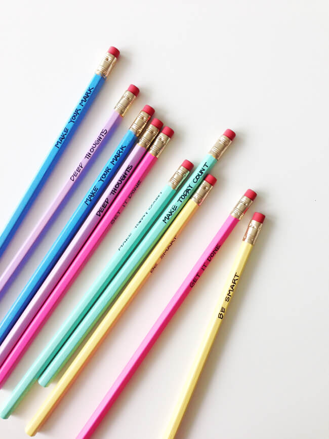 How to create motivational pencils for back to school.