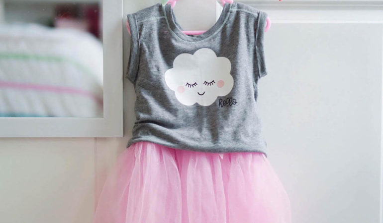 How-To Make A Happy Cloud Shirt With Layered HTV