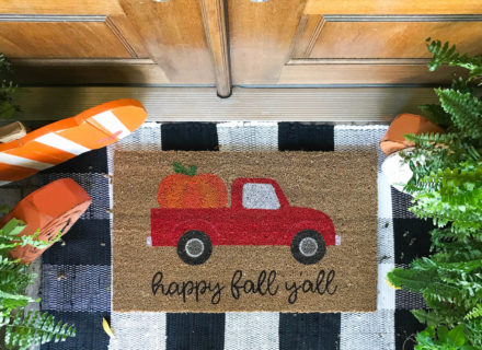DIY Doormat With Oramask Stencil Vinyl