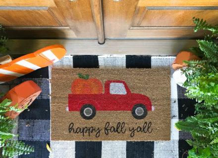 DIY Doormat With Oramask Stencil Vinyl