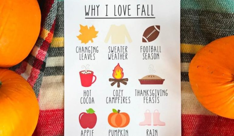 Why I Love Fall– Free Printable