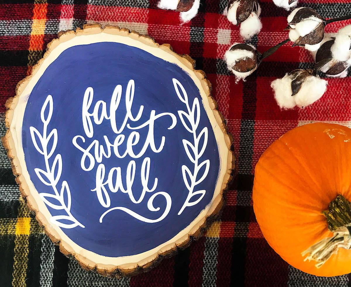 DIY Fall Inspired Wood Sign