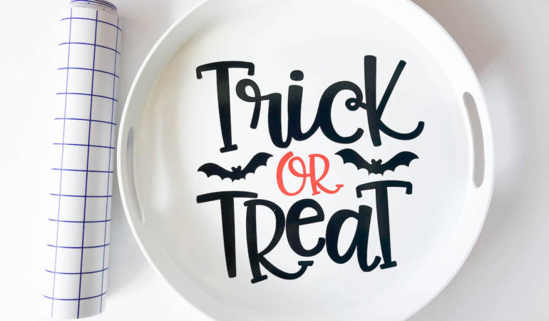 Trick or Treat Candy Tray + Free Cut File