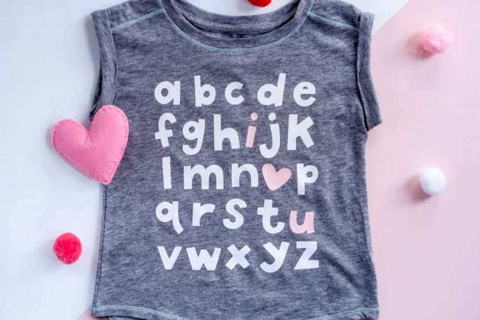 Easy Valentine's Day Kids Shirt with Cricut