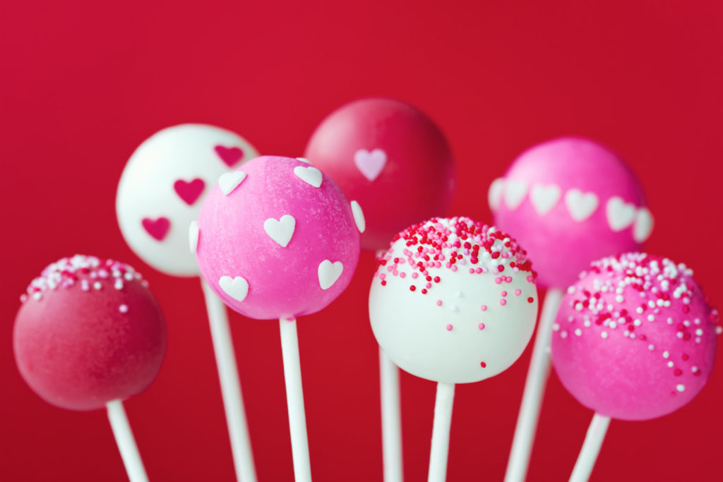 These Cake Pops Scream Valentineu0027s Day! The Saturated Hues Of Red And Pink  Are Gorgeous Together And The White Balances Everything Out.
