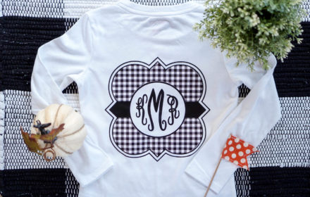 Monogrammed T-Shirt with Expressions Vinyl