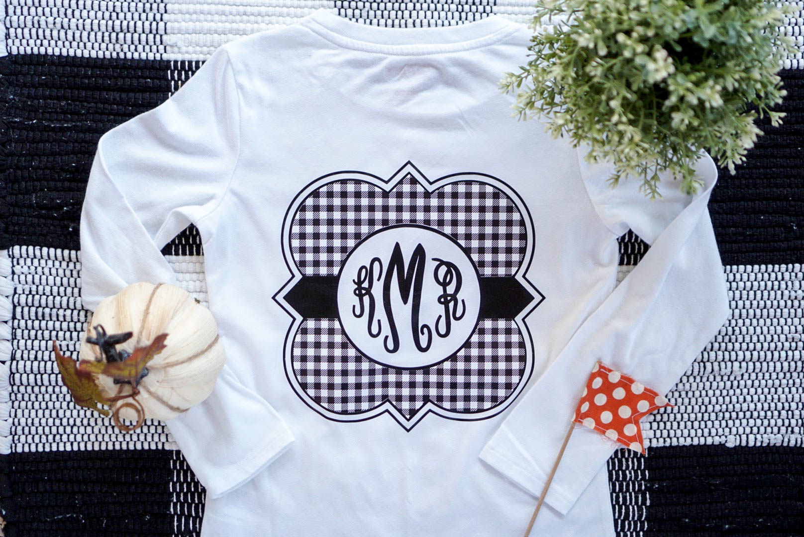 Monogrammed T Shirt With Expressions Vinyl Kayla Makes
