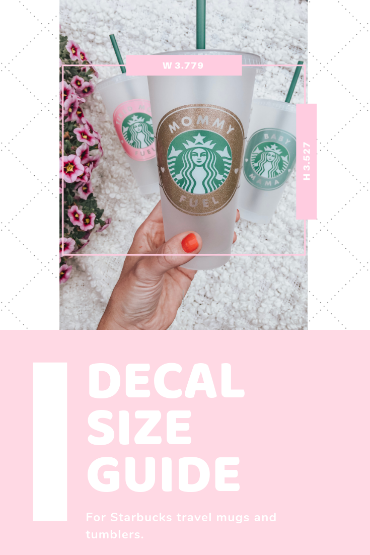 Download Decal Size Guide for Starbucks Cold and Hot Cups - Kayla Makes