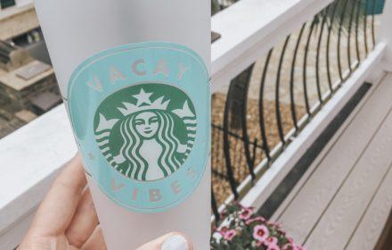 DIY Starbucks Tumbler + Free Cut Files