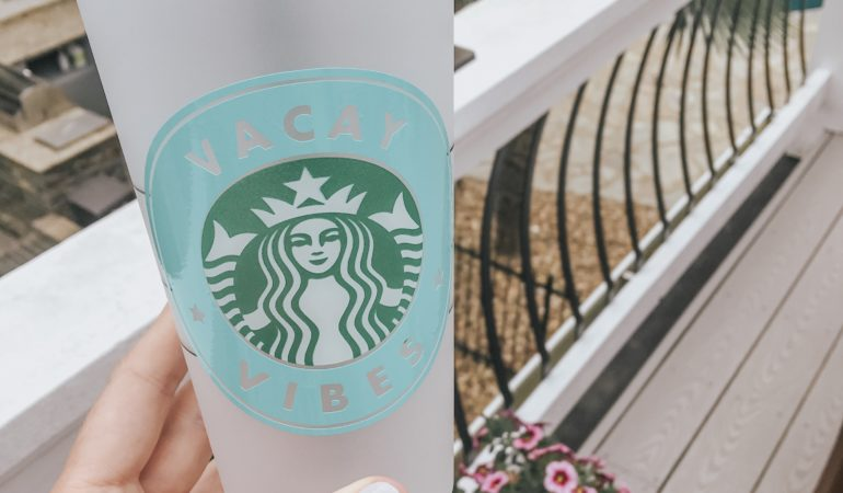 DIY Starbucks Tumbler + Free Cut Files