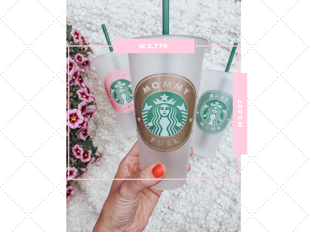 Decal Size Guide for Starbucks Cold and Hot Cups - Kayla Makes