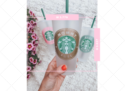 Decal Size Guide for Starbucks Cold and Hot Cups