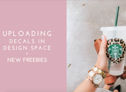 Uploading Free Downloads Into Design Space + New Freebies