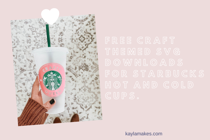 Crafty SVG's for Starbucks Tumblers