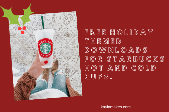 Christmas Starbucks Cold Cup Freebies