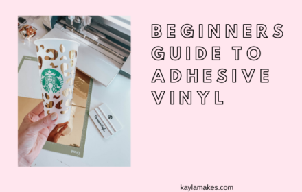 Beginner's Guide: Intro Into Adhesive Vinyl